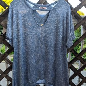 Juicy Couture Blue Heather Flowy Tee Shirt